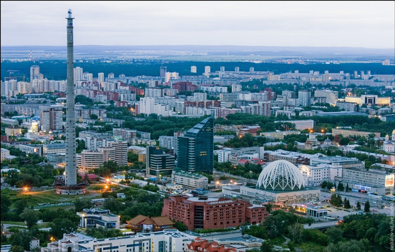 Roofs of Yekaterinburg City