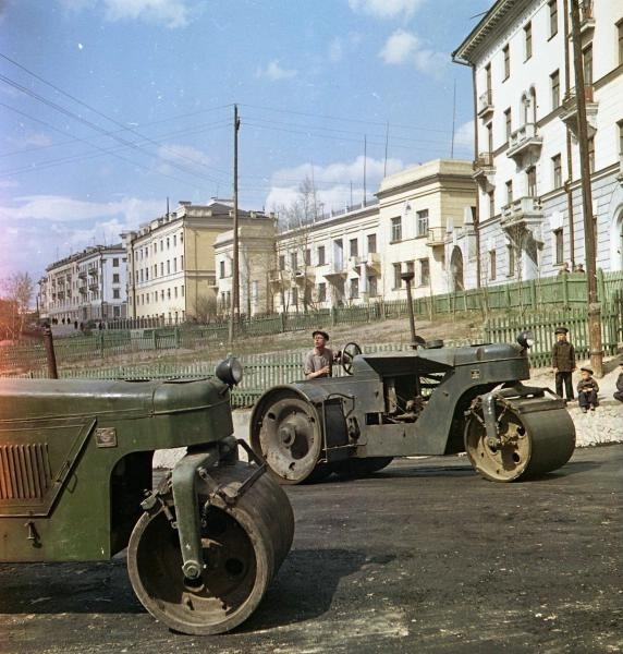 Vintage Soviet Road Paving Photos from 1920-60s