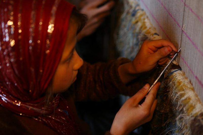 Weaving Carpets In Kabul