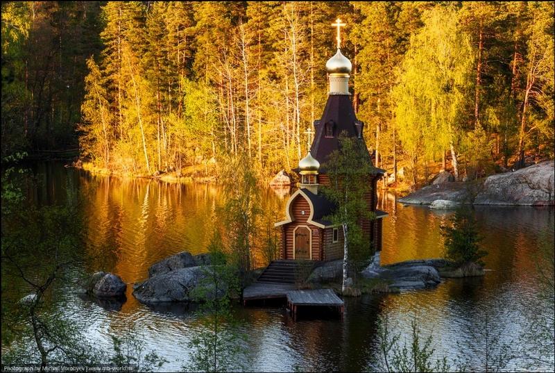 Nice Looking Small Church on the Island