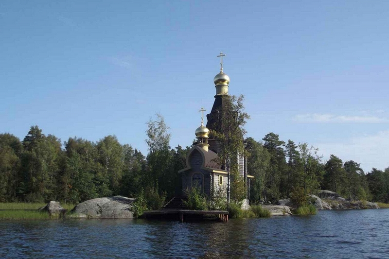 Nice Looking Small Church on the Island