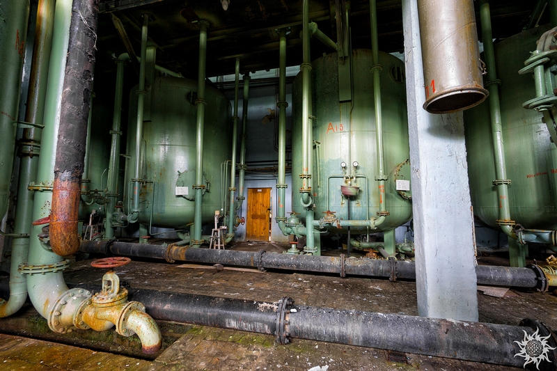 Abandoned station of deionized water production