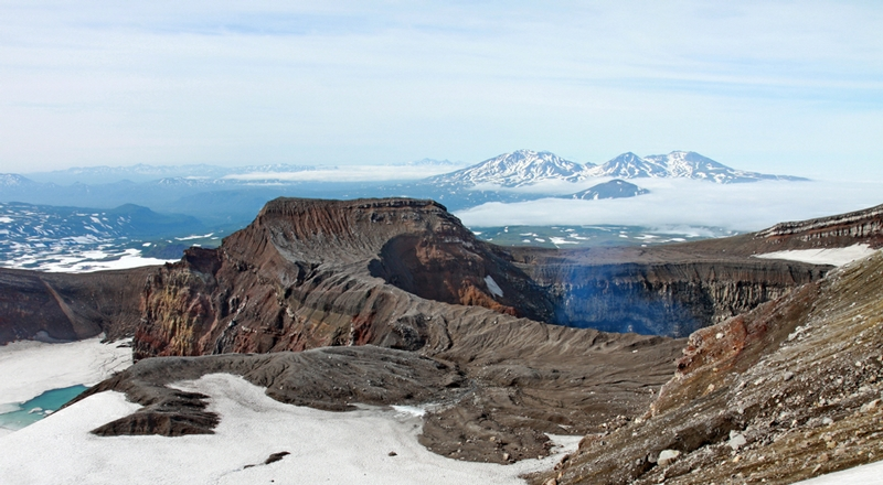 Fascinating Gorely Volcano and Its Craters