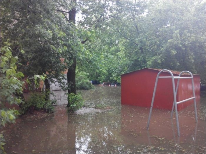 Hail Storm Caused Flooding in Smolensk Russia
