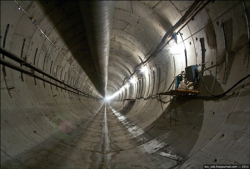 The Construction of the New Underground Station In Kiev