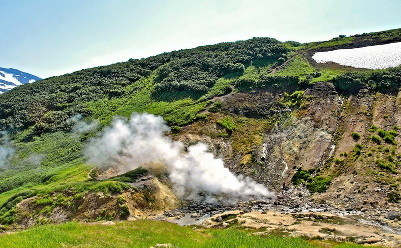 Malaya Valley Of Geysers And Geothermal Power Plant