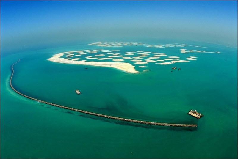 Foto Proses Pembuatan Palm Islands di Dubai