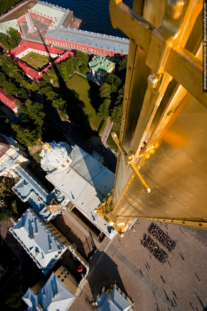Saints Peter and Paul Cathedral From Up To Down