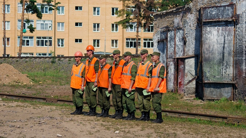 Visiting A Training Centre For Railroad Troops