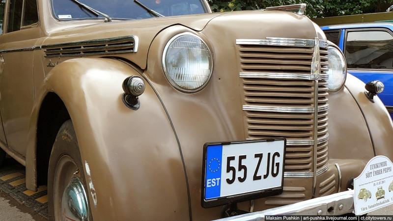 Exhibition Of Rare Cars In Pskov