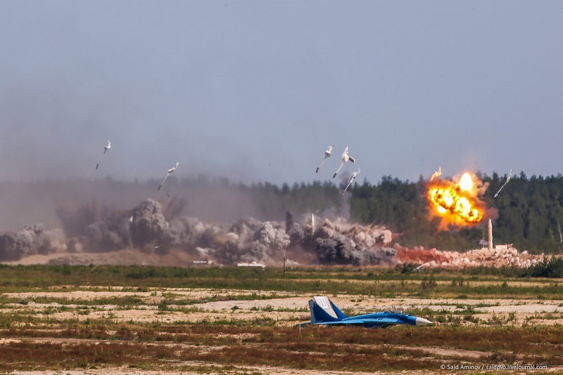 Bombing attack by Su-34
