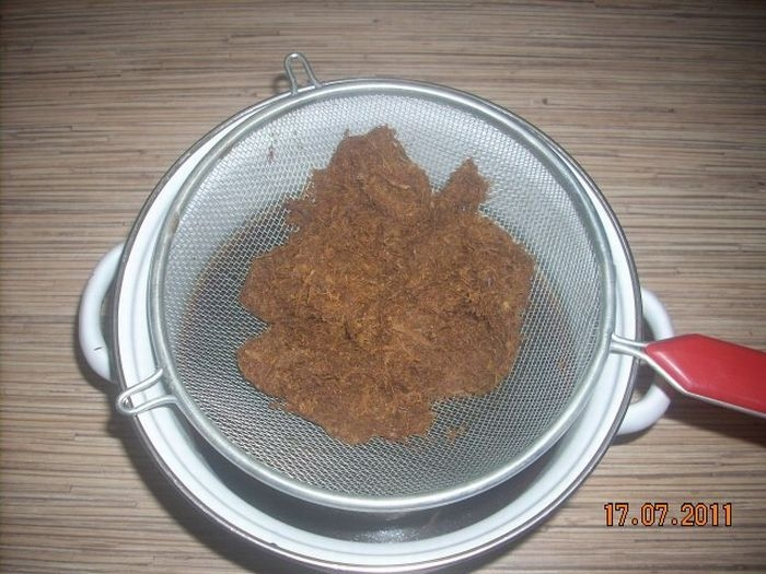 Home-Made Tobacco For A Hookah