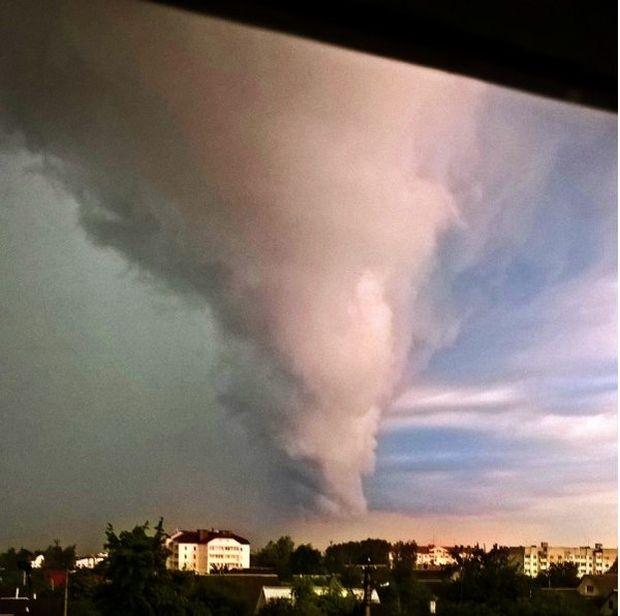 Tornado in the Vitebsk region of Belarus