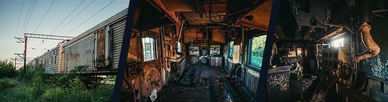 Ghost Train. Frozen refrigerator