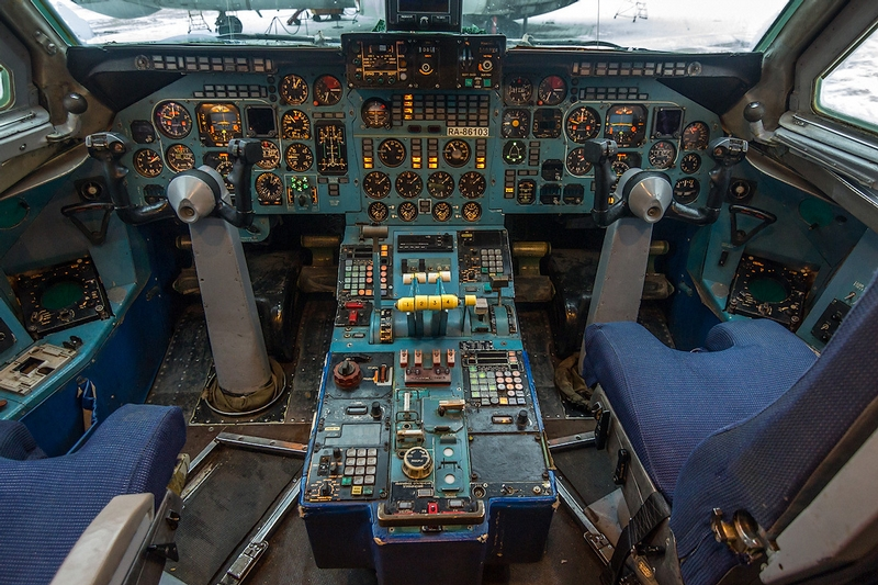 Tu-154 and IL-86 Russian Planes from Inside