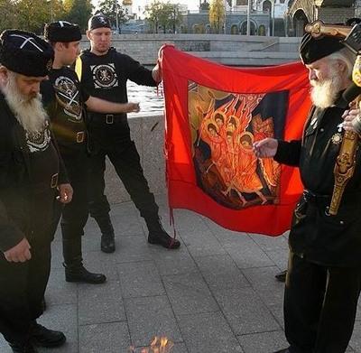 Russian guys burn Harry Potter books 2