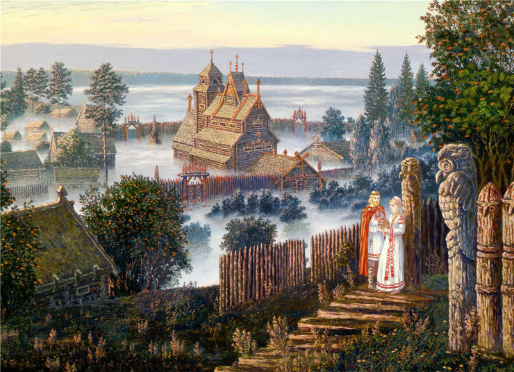 Paintings of Russian prehistoric North 10
