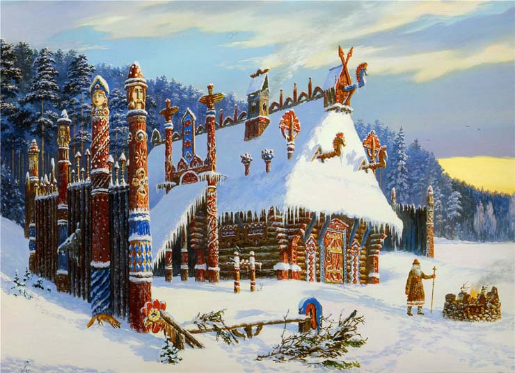 Paintings of Russian prehistoric North 13