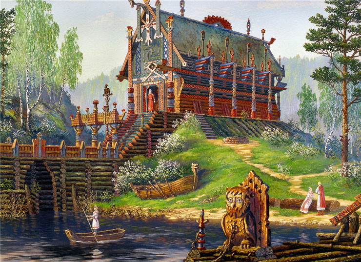 Paintings of Russian prehistoric North 15