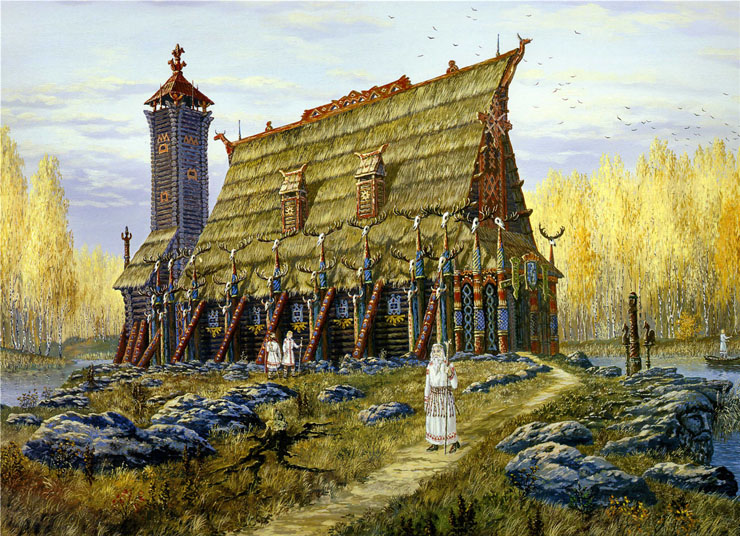 Paintings of Russian prehistoric North 16