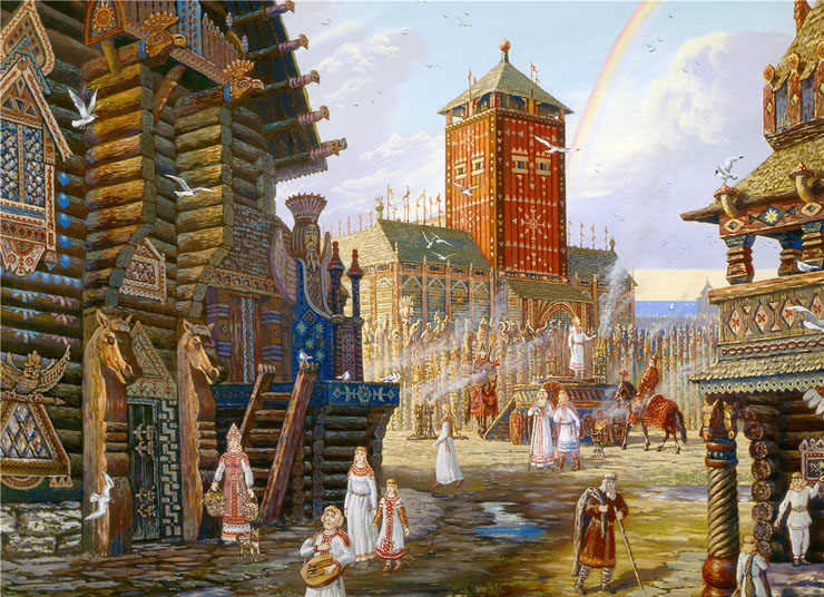 Paintings of Russian prehistoric North 17
