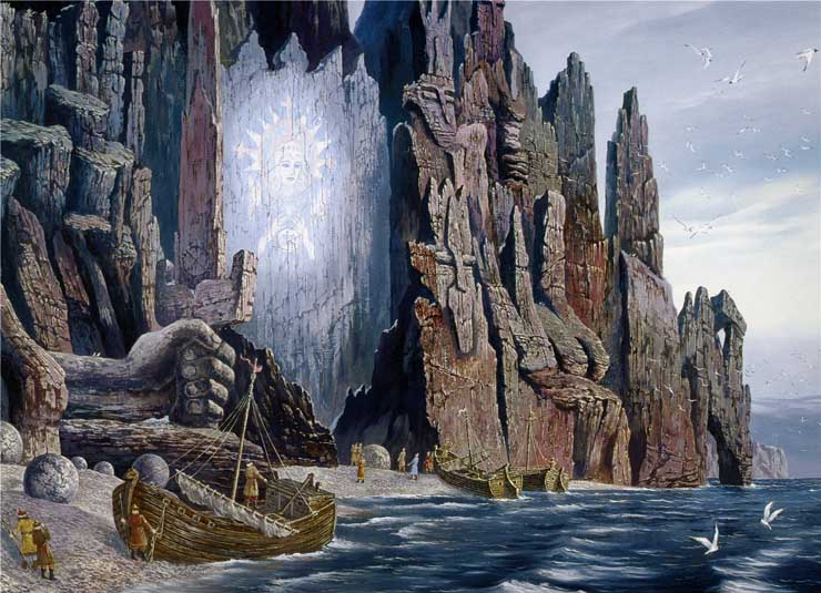 Paintings of Russian prehistoric North 4