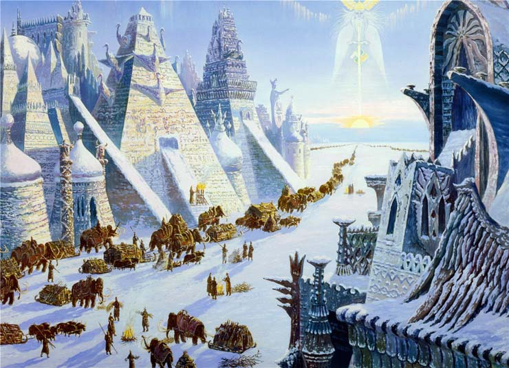 Paintings of Russian prehistoric North 7