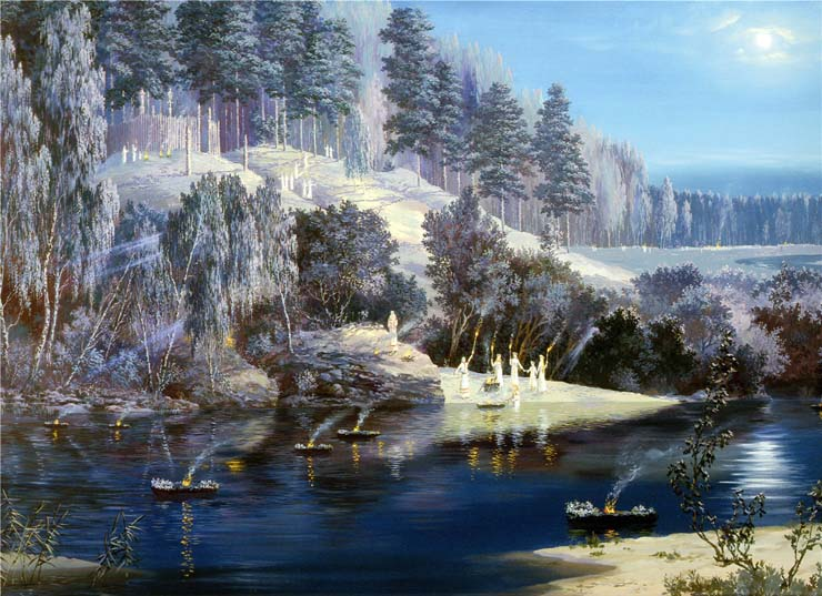Paintings of Russian prehistoric North 9