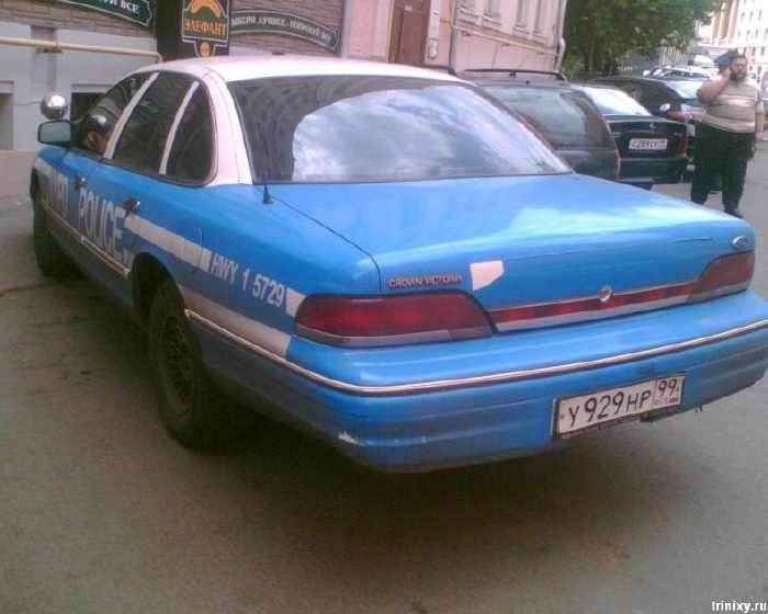 New York Police Department cars in Russia 4