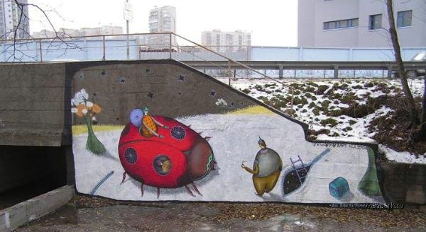 street art in Odessa, Ukraine 1