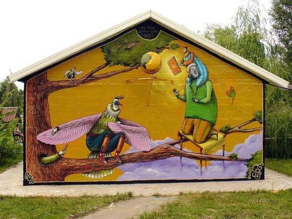 street art in Odessa, Ukraine 7