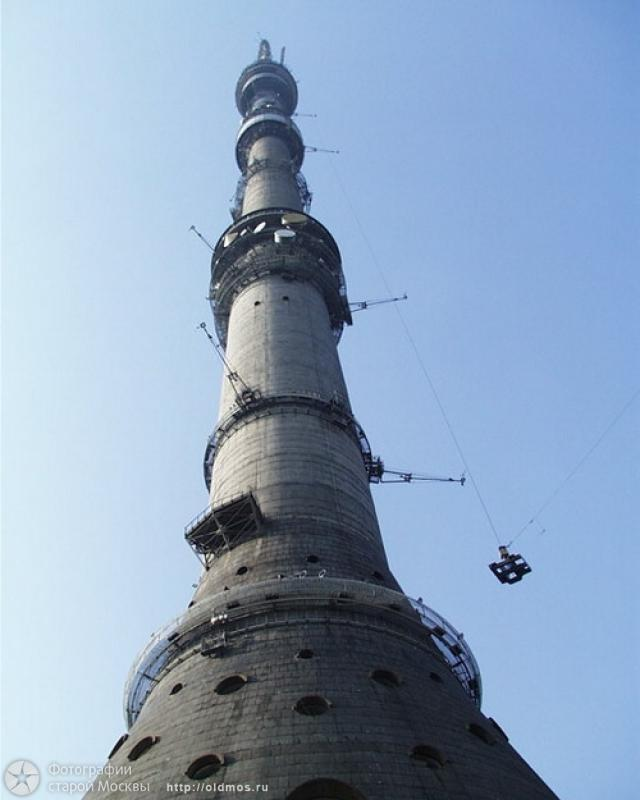 Tallest Russian tower, Ostankino tower is being built 9
