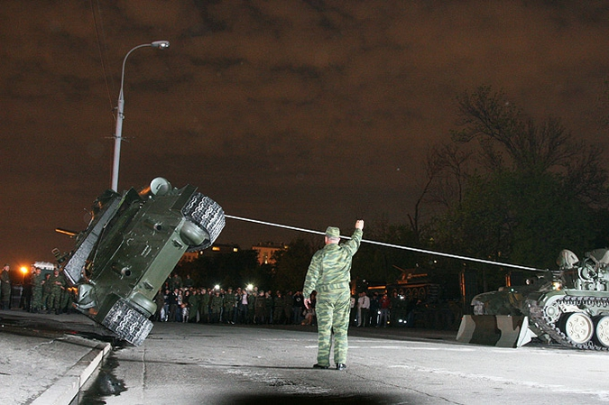 Overturned Tank At The Kremlin Walls 7