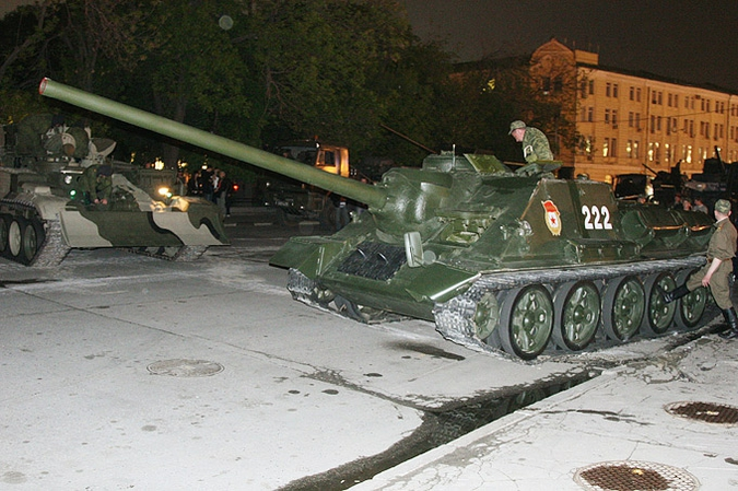 Overturned Tank At The Kremlin Walls 9