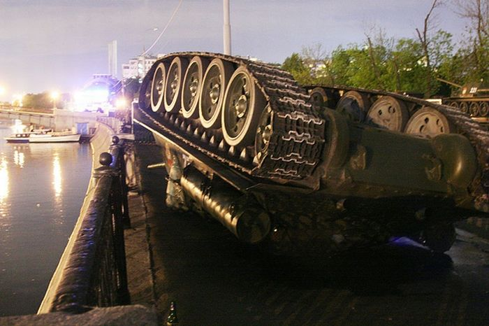 Overturned Tank At The Kremlin Walls 1