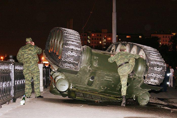 Overturned Tank At The Kremlin Walls 2