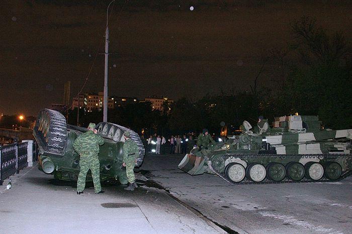 Overturned Tank At The Kremlin Walls 4
