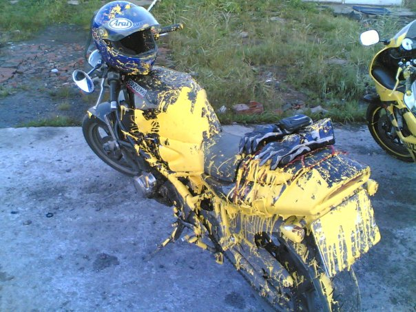 bike accidently painted in Russia 10