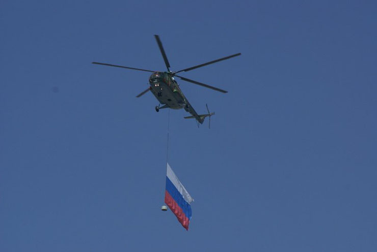the Russian army parade in Moscow 13