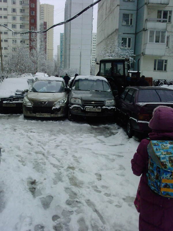 Russian cars parking