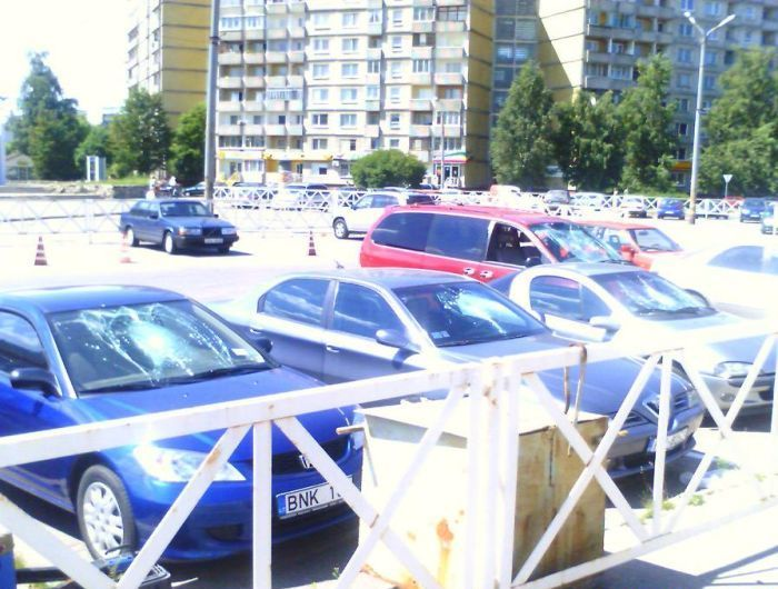 once on the parking in Lithuania 12