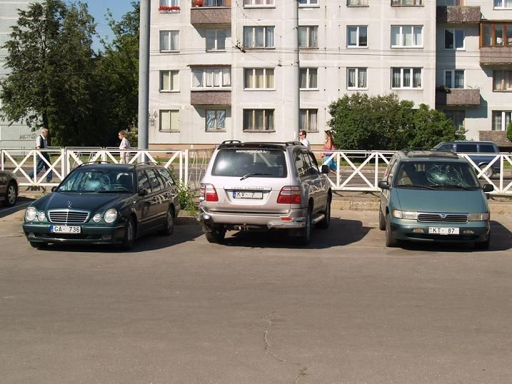 once on the parking in Lithuania 13