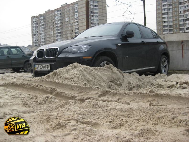 Russian parking in Ukraine