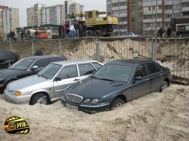 Russian parking in Ukraine 1