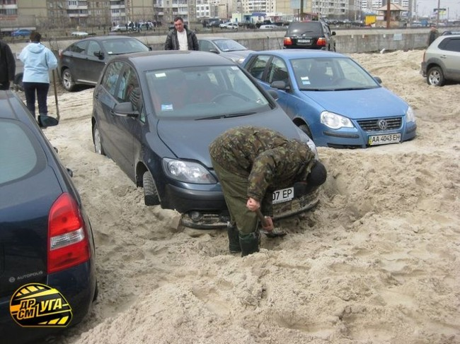 Russian parking in Ukraine 3