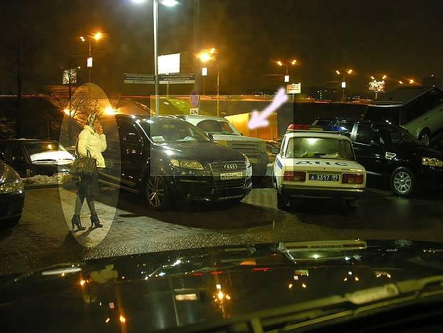 Russian girl parking
