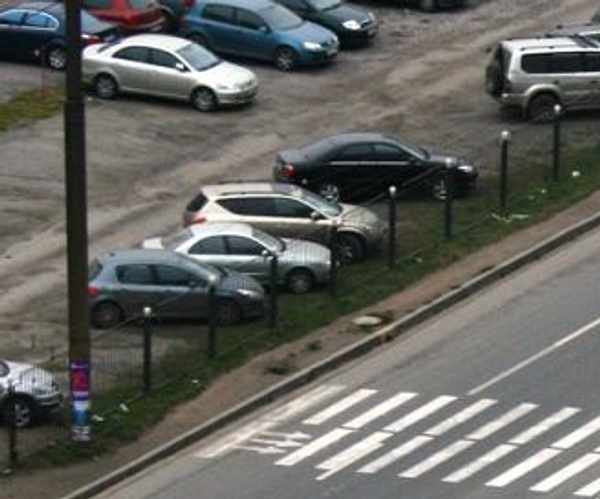 Pedestrian crossing in Russia 1
