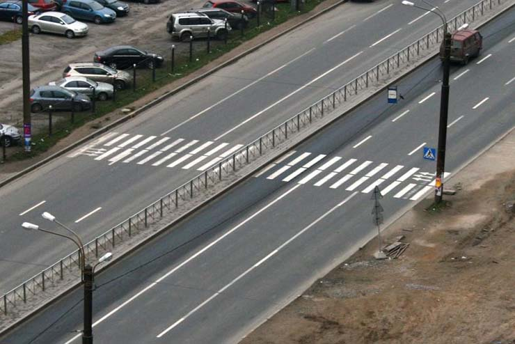Pedestrian crossing in Russia 2