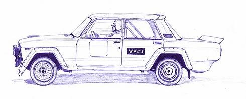 Russian cars drawn with a ball-pen 10