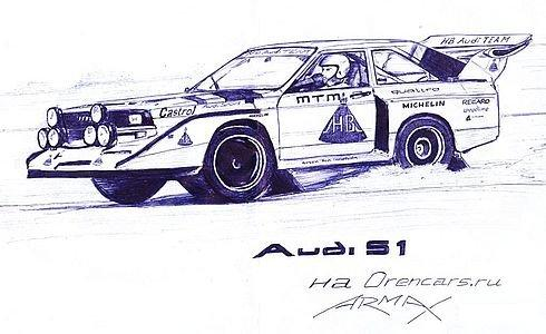 Russian cars drawn with a ball-pen 12
